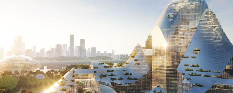 MVRDV divulga projeto de cidade inteligente para a companhia Tencent na China